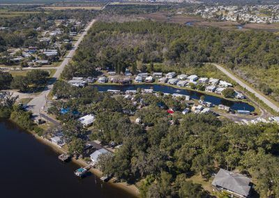 Easy to access campground on Florida's Gulf Coast