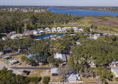 Overhead view of River Oaks RV Resort