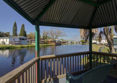 cabana on the lake at RV Resort